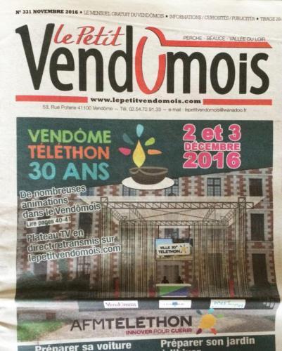Le Petit Vendomois – Novembre 2016 –    n°331